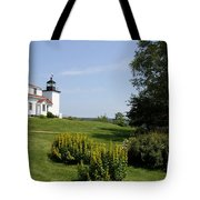 Fort Point Light Maine Tote Bag