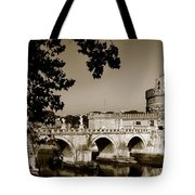 Fortress And Bridge In Sepia Tote Bag