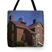 Forty Mile Point Lighthouse In Michigan Number 417 Tote Bag