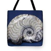 Fossilized Ammonite Tote Bag