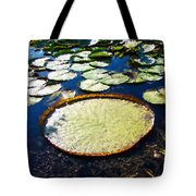 Foul Ball And The Lily Pads Tote Bag