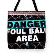 Foul Ball Area Tote Bag