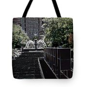 Fountain Abstract Tote Bag