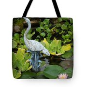 Fountain Among Lilies Tote Bag