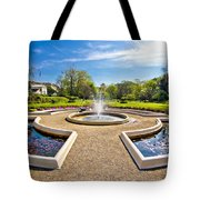 Fountain And Park In Zagreb Tote Bag