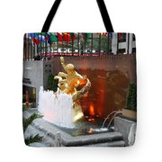 Fountain And Prometheus - Rockefeller Center Tote Bag