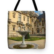 Fountain At Chateau De Chantilly Tote Bag
