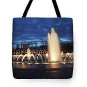 Fountain At Night World War II Memorial Washington Dc Tote Bag