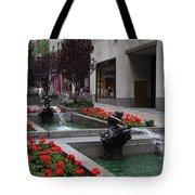 Fountain At Rockefeller Center Nyc Tote Bag
