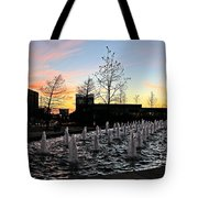 Fountain At Trinity River Campus 1566m Tote Bag