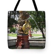 Fountain Cloister St. Marienstern - Germany Tote Bag