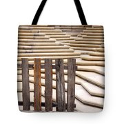 Fountain Stepped Concrete And Fence Tote Bag