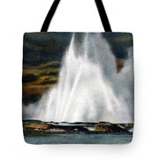 Fountain Geyser Yellowstone Np Tote Bag