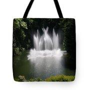 Fountain In Lake Tote Bag