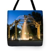 Fountain In Riverfront Park Tote Bag
