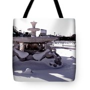 Fountain In The Snow Tote Bag