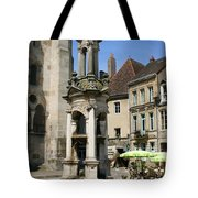 Fountain On The Market Place Autun Tote Bag
