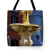 Fountain Piazza Farnese Tote Bag