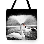 Fountain Swan Tote Bag