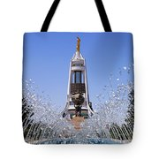 Fountains And The Arch Of Neutrality At Ashgabat In Turkmenistan Tote Bag