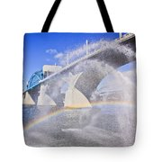 Fountains And The Market Street Bridge Tote Bag by Tom and Pat Cory