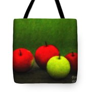 Four Apples Tote Bag