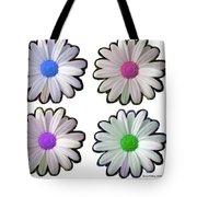 Four Daisy Hibrids Tote Bag