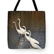 Four Egrets Fishing Tote Bag