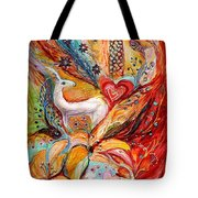 Four Elements Fire Tote Bag by Elena Kotliarker