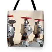 Four Emergency Water Valves Tote Bag by Trever Miller
