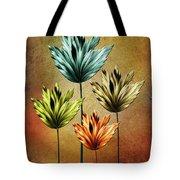 Four Fractal Flower Tote Bag