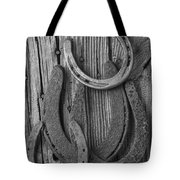 Four Horseshoes Tote Bag by Garry Gay