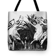 Four Leaping Grecian Dancers Tote Bag