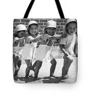 Four Little Girls Having Fun Tote Bag