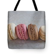 Four Macarons In A Row Tote Bag