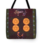 Four Of Pentacles Tote Bag