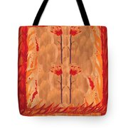 Four Of Wands Tote Bag