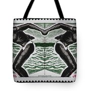 Four Olympic Swimmers 1964 Photomontage Tote Bag