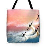 Four On A Curve Tote Bag