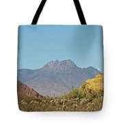Four Peaks From The Apache Trail Tote Bag