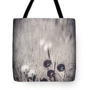 Four Red Tulips And Two Yellow Ones Tote Bag