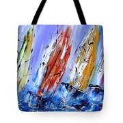 Four Sails To Four Winds Available As A Signed And Numbered Print On Canvas See Www.pixi-art.com Tote Bag