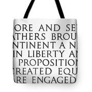 Four Score Tote Bag by Greg Fortier