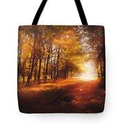 Four Seasons Autumn Impressions At Dawn Tote Bag