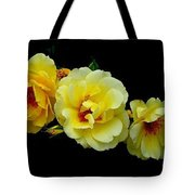 Four Stages Of Bloom Of A Yellow Rose Tote Bag