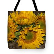 Four Sunflowers Tote Bag