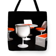 Four Tulip Chairs Tote Bag