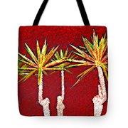Four Yuccas In Red Tote Bag