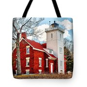 Fourty Mile Point Lighthouse Tote Bag