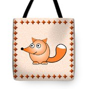 Fox - Animals - Art For Kids Tote Bag